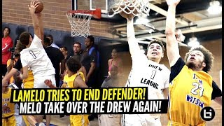 LaMelo Ball Calls Out Defender & Tries INSANE POSTER DUNK!!! Melo Wants ALL THE SMOKE At Drew!