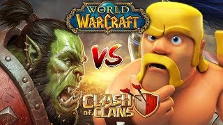 Warcraft VS Clash of Clans 10 best players introducing clan destroyers