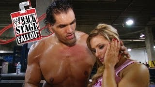 Khali comforts Natalya - Backstage Fallout - October 25, 2013