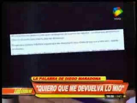 Diego Maradona: Espero que Claudia me devuelva mi dinero y que mis hijas me den cariño