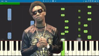 Offset ft. Cardi B - Clout - Piano Tutorial