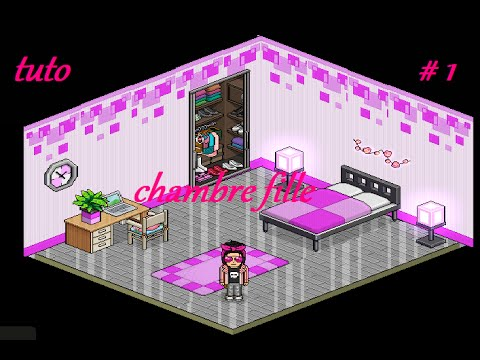 tuto maison j n 1 comment faire une belle chambre fille sur habboz youtube. Black Bedroom Furniture Sets. Home Design Ideas