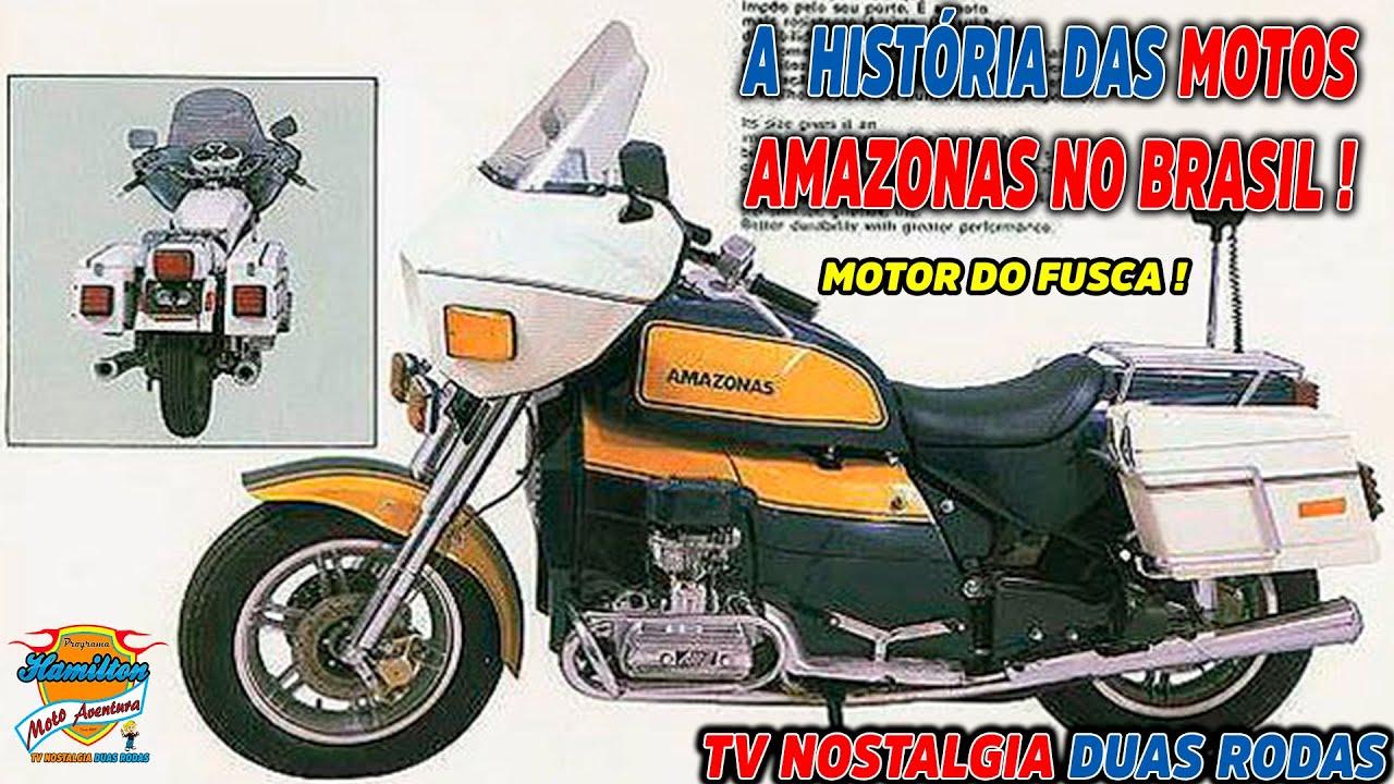 A história das motos Amazonas no Brasil ! (MOTOR DO FUSCA) - TV Nostalgia Duas Rodas