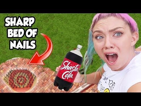 DROPPING DOLLAR STORE ITEMS ON A SHARP NAIL BED 45ft! YOU WONT BELIEVE WHAT HAPPENED!!!!