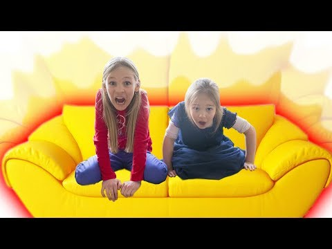 Amelia and Avelina snow adventure on a magic couch. Fun family vlog from Tignes in France.
