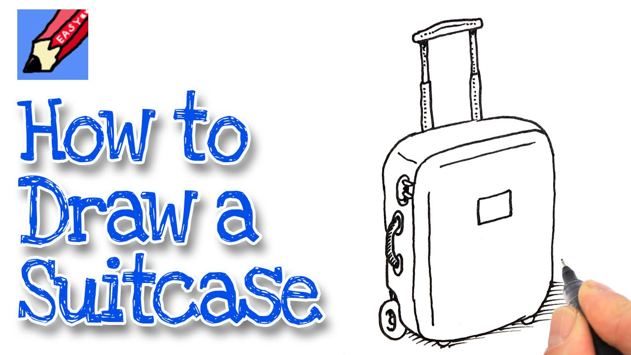 How to draw a Suitcase Real Easy