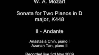 Mozart - Sonata for Two Pianos in D major, K448 (2nd movement)