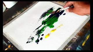 Simple & Easy Abstract painting in Acrylics / project 365 days / Day #08 / Demonstration