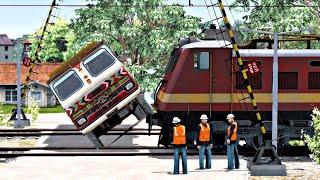Train Awareness movie 2019 || TRAIN TRUCK ACCIDENT || Indian Train Simulator || Indian Railways ||