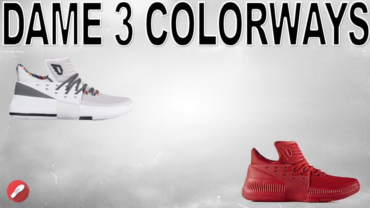 on sale b943a 14ef3 Top 5 Adidas Dame 3 Colorways!