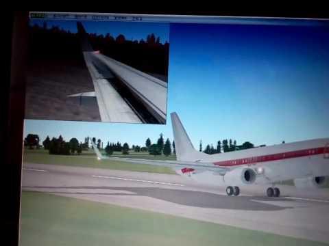 FSX Doncaster Sheffield landing (Boeing 737)