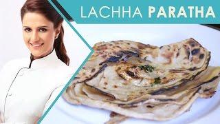Lachha Paratha   Lacha Paratha Recipe Video   Lacha Parantha   Flat Layered Bread