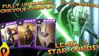 Star Wars Battlefront 2 - Fully Upgraded General Grievous Gameplay / 82 Killstreak!