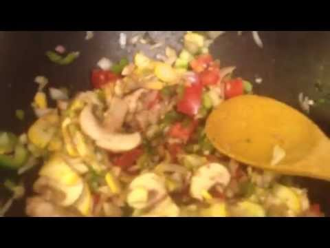 Italian Stuffed Peppers with Penne Pasta Nutritarian Style