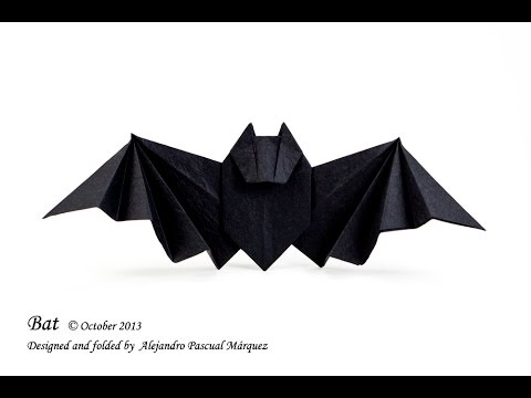 Easy Origami Bat Origami Tutorial Youtube
