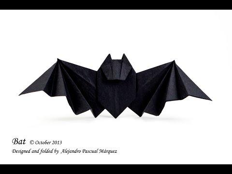 easy origami bat origami tutorial youtube
