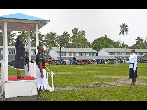 Fijian Prime Minister officiates the Police Force New Recruitment Passout Parade