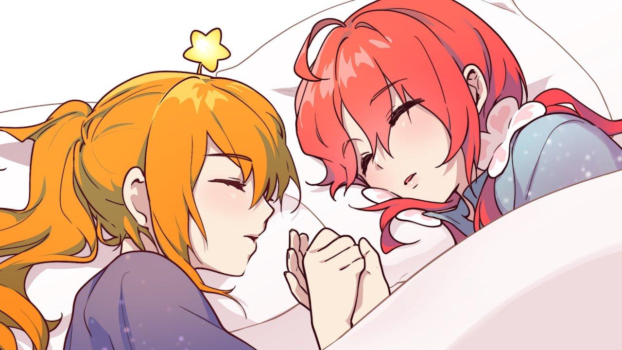 우리 손만 잡고 자는거다?