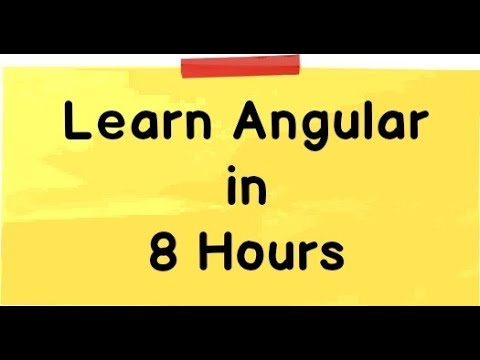 Learn Angular Tutorial Youtube