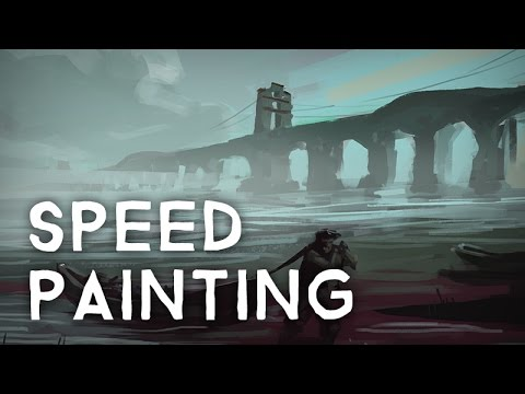 """""""Foggy Canal"""" - Speed Painting"""