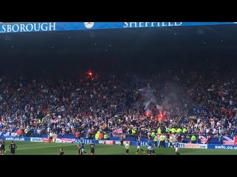 30/07/17 Glasgow Rangers Goal and Fan Reaction Away at Sheffield Wednesday