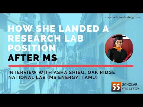 How to get a Research Lab position after MS?