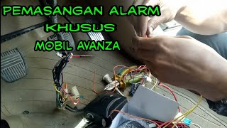 Gambar cover Pemasangan alarm mobil avanza