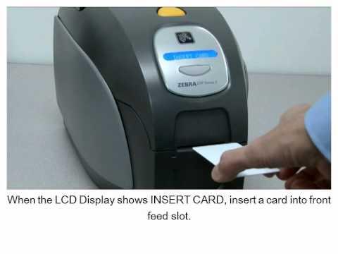 zebra zxp series 3 printer feeding cards manually youtube rh youtube com