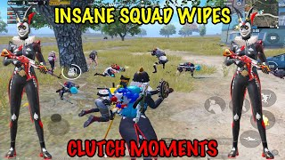 INSANE 🤪 Squad Wipes 🧹   Best Clutch Moments 😎 - PUBG Mobile