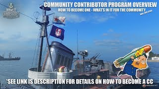 World of Warships Community Contributor Program - How to Become One - Win Free Stuff thumbnail