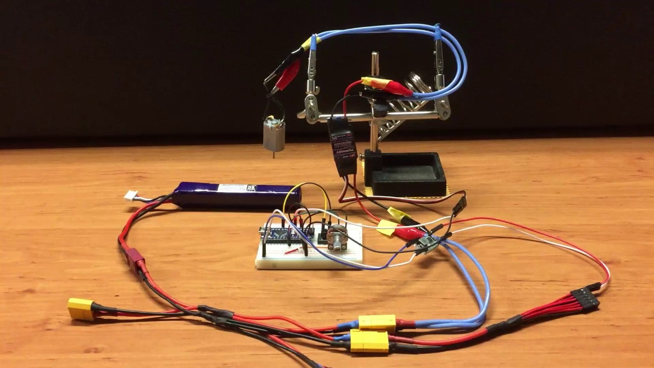 Arduino controlled ESC for Brushed DC Motor