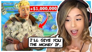 I OFFERED A RANDOM DUO $1,000,000! - Pokimane Fortnite