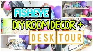 ♡ 3 Easy Diy Room Decor + Fisheye Desk Tour | Alohakatiex ♡