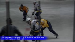 Acton Boxborough Girls Ice Hockey vs Arlington 12/8/15