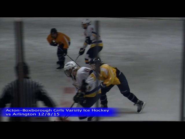 Acton Boxborough Girls Ice Hockey vs Arlington 12/8/15
