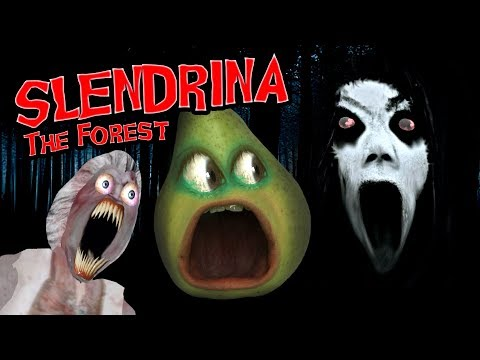 Pear FORCED To Play - SLENDRINA: The Forest!!