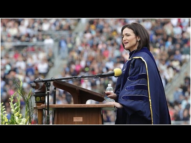 Sheryl Sandberg talks about husband's death in powerful speech