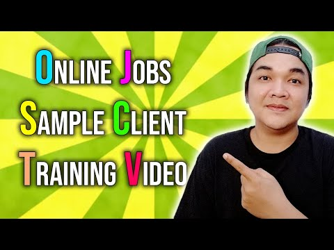 ONLINE JOBS Client Training Video Home Based Jobs For Beginners Philippines