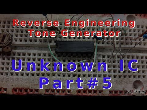 Toner Part#2  Reverse Engineering a 4000 Series Logic IC for a Tone Generator