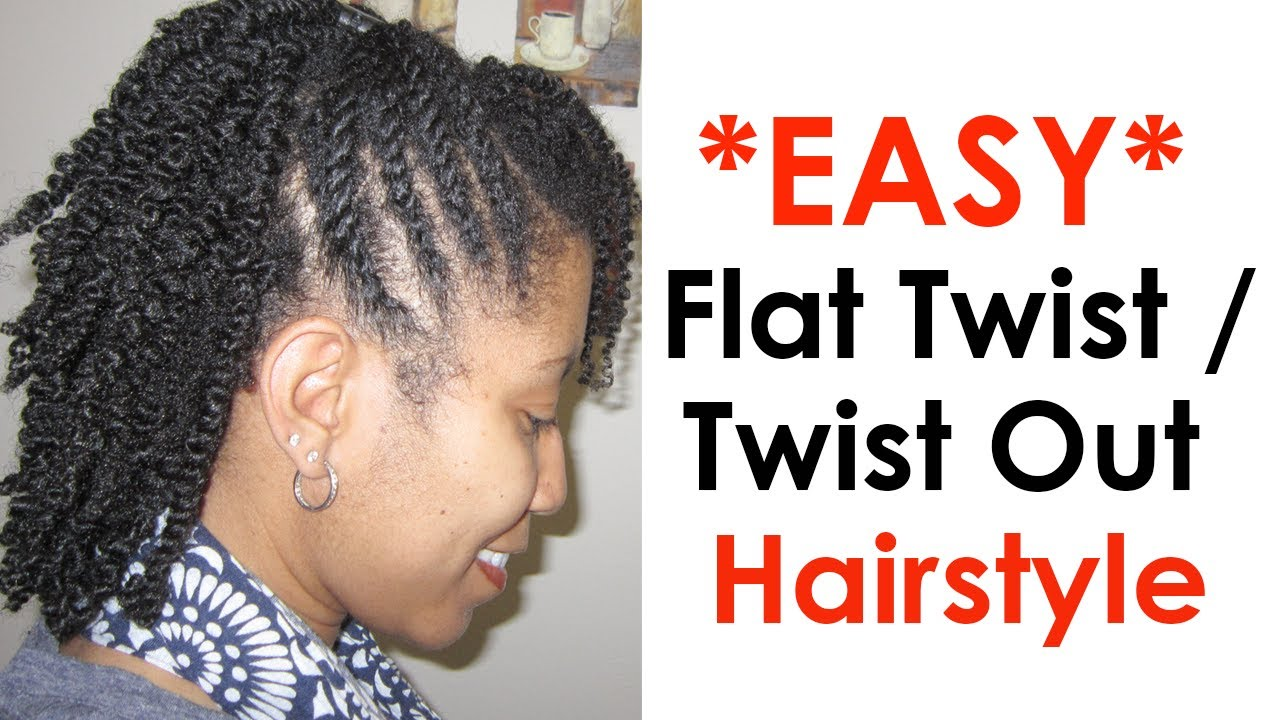 flat twists with two strand