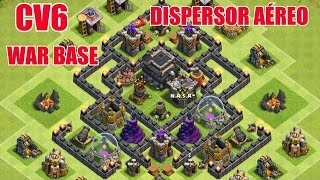 CLASH OF CLANS - MELHOR LAYOUT DE GUERRA CV6 ( BEST WAR BASE TH6 ) - 2015