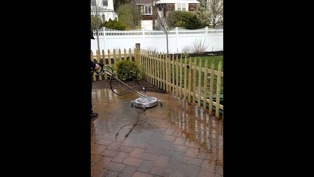 Pressure Washing paver patio with Surface Cleaner. By: DMC, Inc. WWW ...