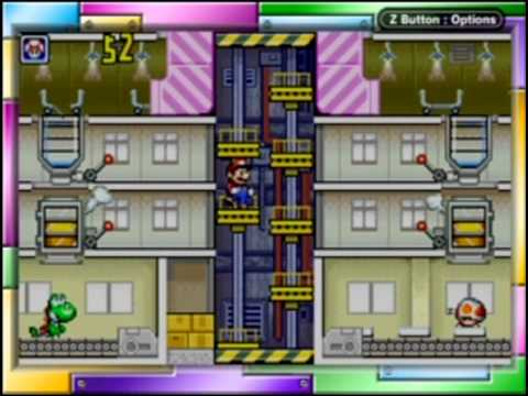 Game & Watch Gallery 4 - Modern Mario's Cement Factory (Easy) Part 1