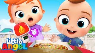 Be Careful it's H๐t Baby John | Good habits | Kids Songs & Nursery Rhymes Little Angel