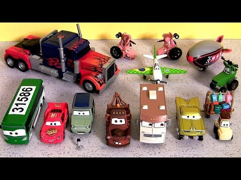 Cars Disney Planes Tractor Tipping Stampede Set Youtube