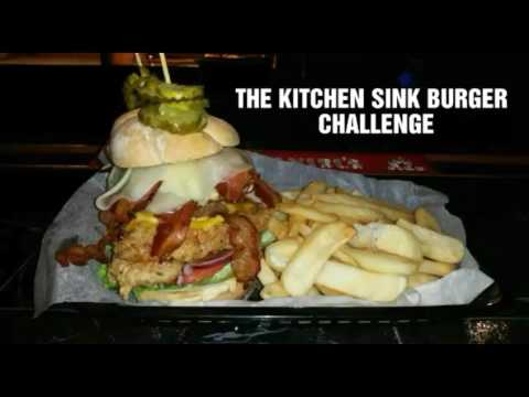 The Kitchen Sink Burger Challenge - YouTube