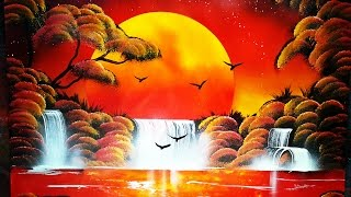 Spray Art Tutorial Sunset Forest Lake 2016 ITA