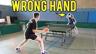 Timo Boll играет правой рукой
