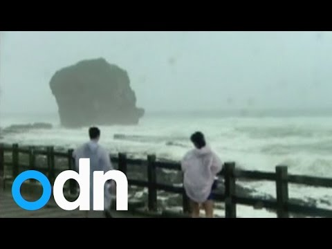 Severe tropical storm Fung-Wong arrives in Taiwan after tearing through the Philippines