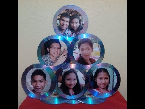 DIY#1 PICTURE FRAME MADE OF RECYCLED CD/DVD